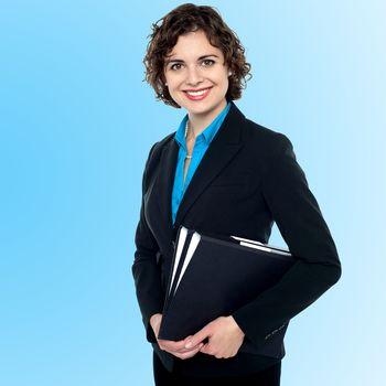 Young smiling female entrepreneur