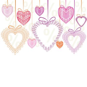 Love You Valentine's Day Greeting card, vector illustration