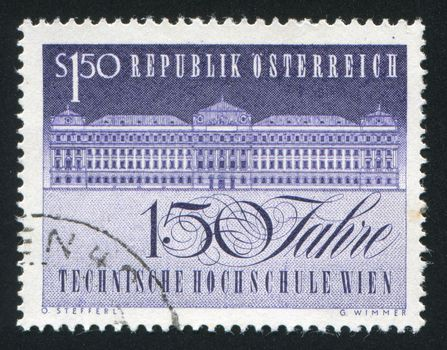 AUSTRIA - CIRCA 1965: stamp printed by Austria, shows University of Technology, circa 1965