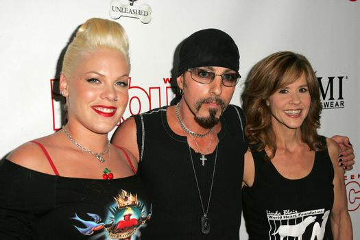 Pink, Chris Amerouso and Linda Blair at the In Touch Presents Pets And Their Stars Party, Cabana Club, Hollywood, CA 09-21-05