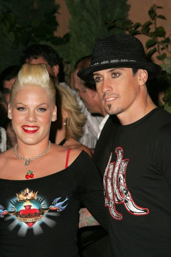 Pink and Carey Hart at the In Touch Presents Pets And Their Stars Party, Cabana Club, Hollywood, CA 09-21-05