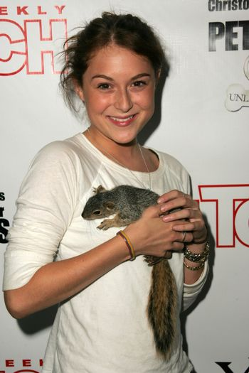 Alexa Vega and pet squirrel at the In Touch Presents Pets And Their Stars Party, Cabana Club, Hollywood, CA 09-21-05