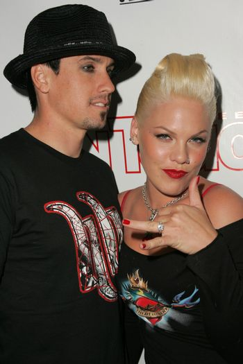 Carey Hart and Pink at the In Touch Presents Pets And Their Stars Party, Cabana Club, Hollywood, CA 09-21-05