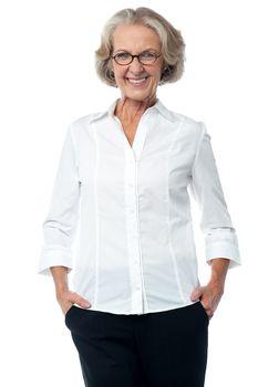 Senior woman in corporate attire