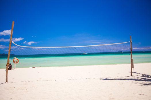 Basketball net on the tropical beach