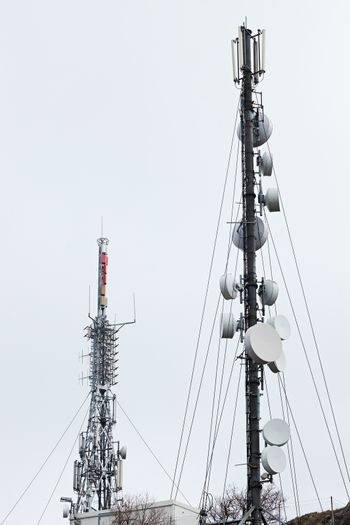 Communication, tv and Internet receivers and transmitters on large antennas