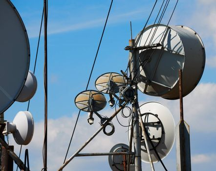 Communication antennas and wires