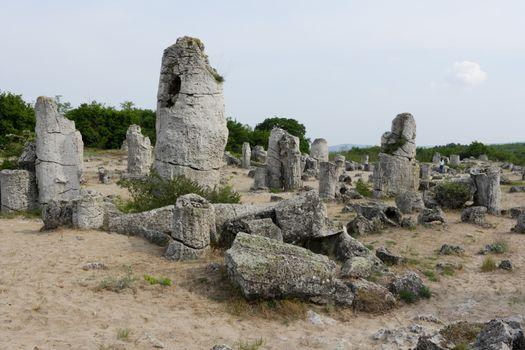 Stone phenomenon Nailed rocks