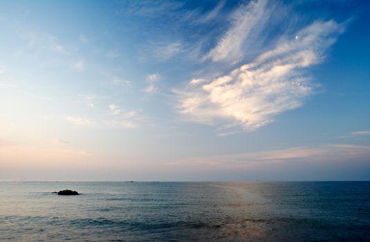 Black sea morning scenery