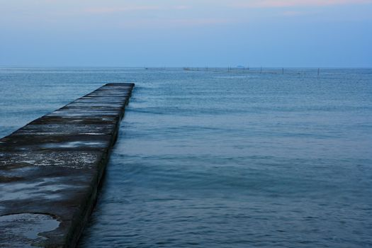 Quay in the sea
