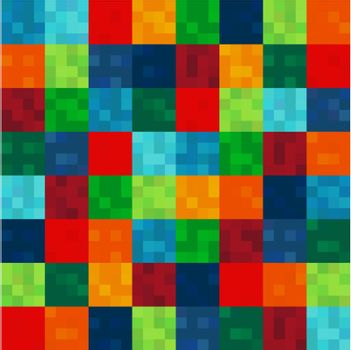 seamless colorful squares pattern