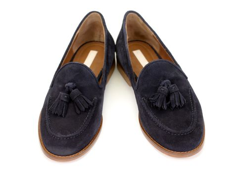 pair of suede shoes