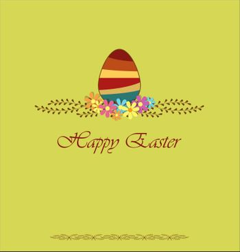 Decorate with Easter egg with space for text