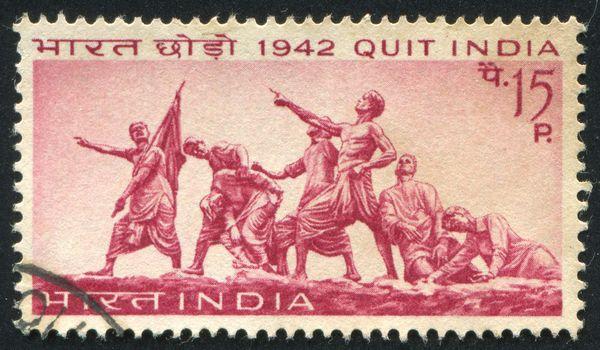 INDIA - CIRCA 1967: stamp printed by India, shows Martyrs Memorial, Patna, circa 1967