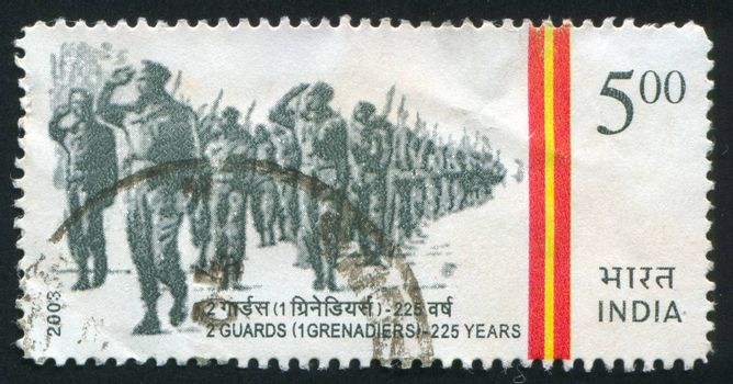 INDIA - CIRCA 2003: stamp printed by India, shows Guards Batttalion, circa 2003
