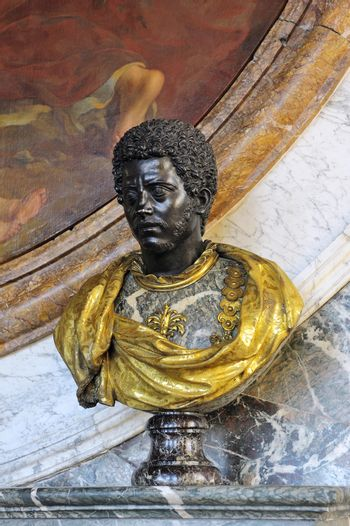 Bust of a black man in the castle of Versailles