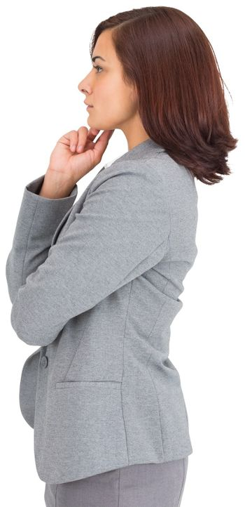 Concentrating businesswoman