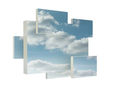 Structure showing clouds