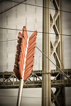 Cupids Arrow and Golden Gate Bridge
