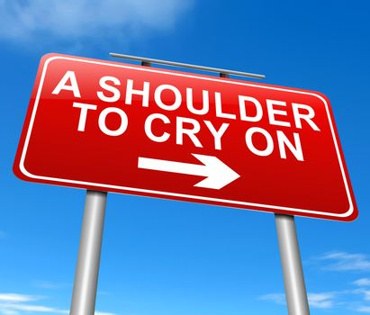 A shoulder to cry on.