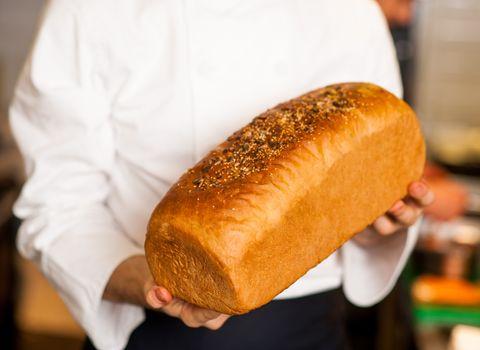 Freshly baked grain bread