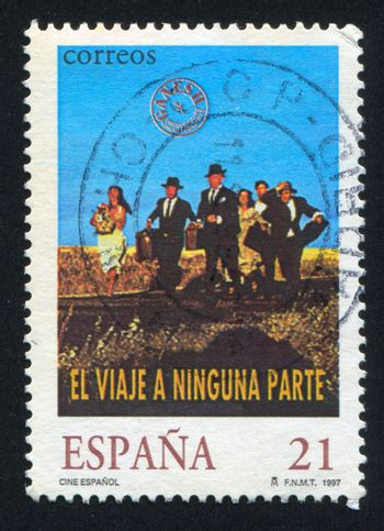 SPAIN - CIRCA 1997: stamp printed by Spain, shows a Group of People, circa 1997