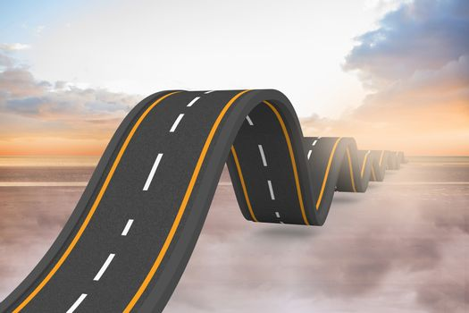 Bumpy road backdrop