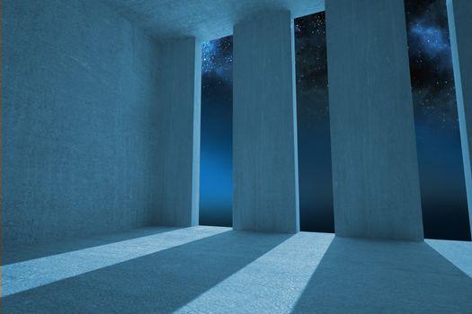 Light shining into dark room
