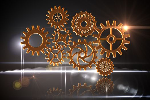 Cogs and wheels graphic