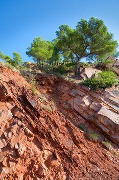 Castellon Desierto de las Palmas desert red mountains