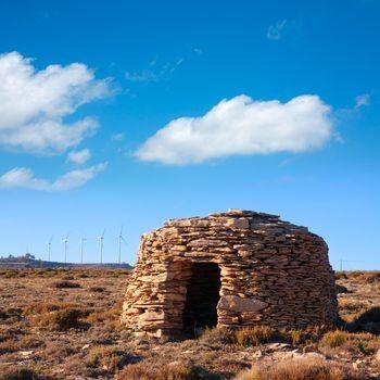 Maestrazgo shepherd shelter in Castellon Windmills