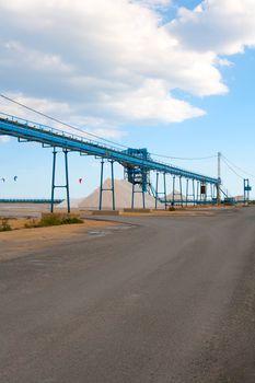 Saltworks in Alicante province Santa Pola