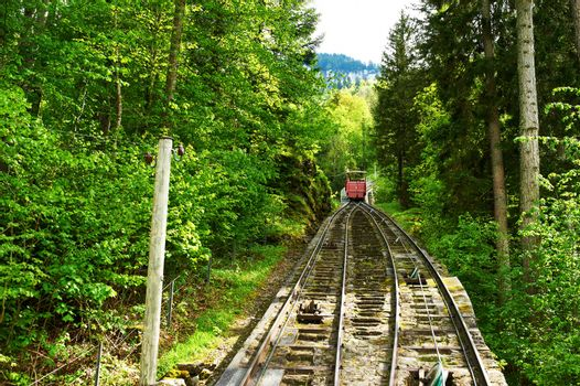 Funicular rail near Reichenbach