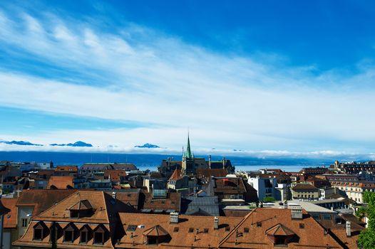 Skyline of Lausanne