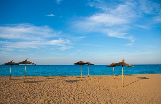 Mediterranean beach in Valencia province