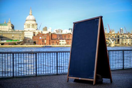 Copy space concept, River Thames background