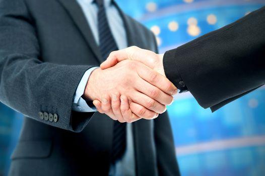 Business deal finalized, congratulations!