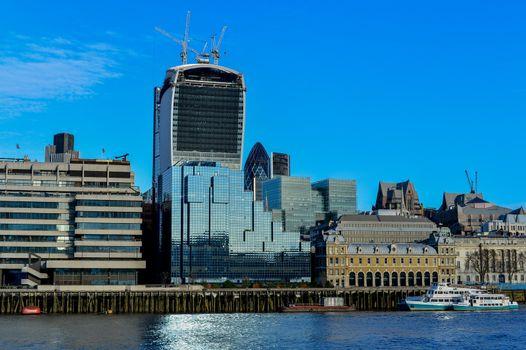 View Across Thames River, London