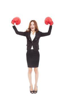 Strong businesswoman boss executive concept
