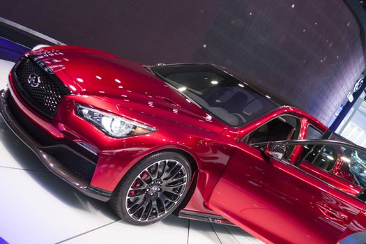 DETROIT - JANUARY 26 :The new 2014 Infiniti Q50 at The North Ame