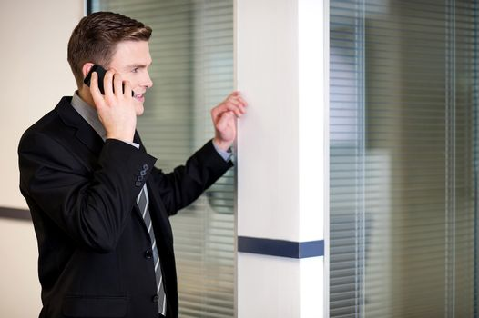 Manager communicating with client