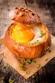 Egg in bun
