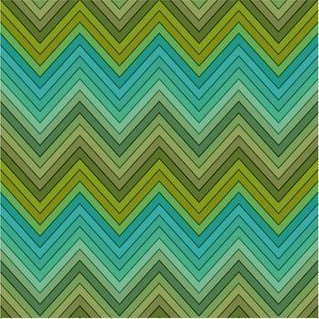 seamless multicolor green horizontal fashion chevron pattern