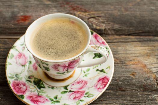 Cup of freshly brewed Turkish coffee