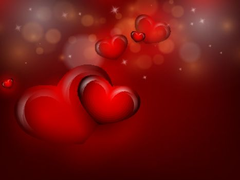 Valentine's day vector background with copy space. Eps10