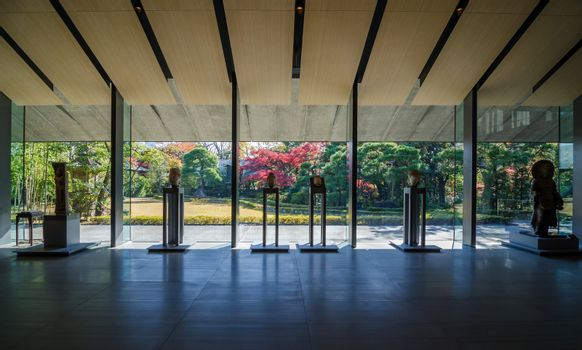 Interior of art exhibition