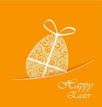Orange background with Easter egg
