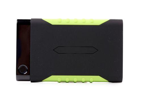 Shock-resistant external portable hard disk.