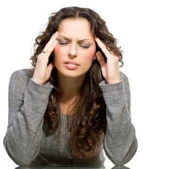 Woman having Headache. Sick