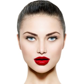 Beauty Woman Portrait. Makeup for Brunette with Blue eyes